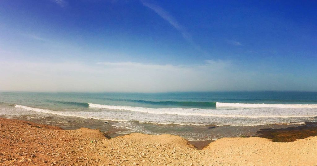 banana surf spot in Morocco