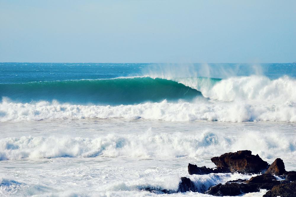 Draculas surf spot in Morocco