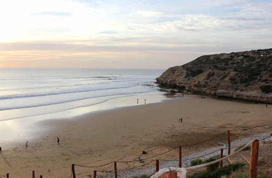 La source surf spot in Morocco