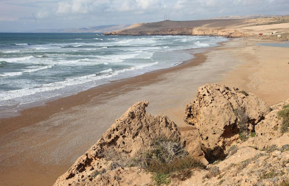 Tamri surf spot in Morocco