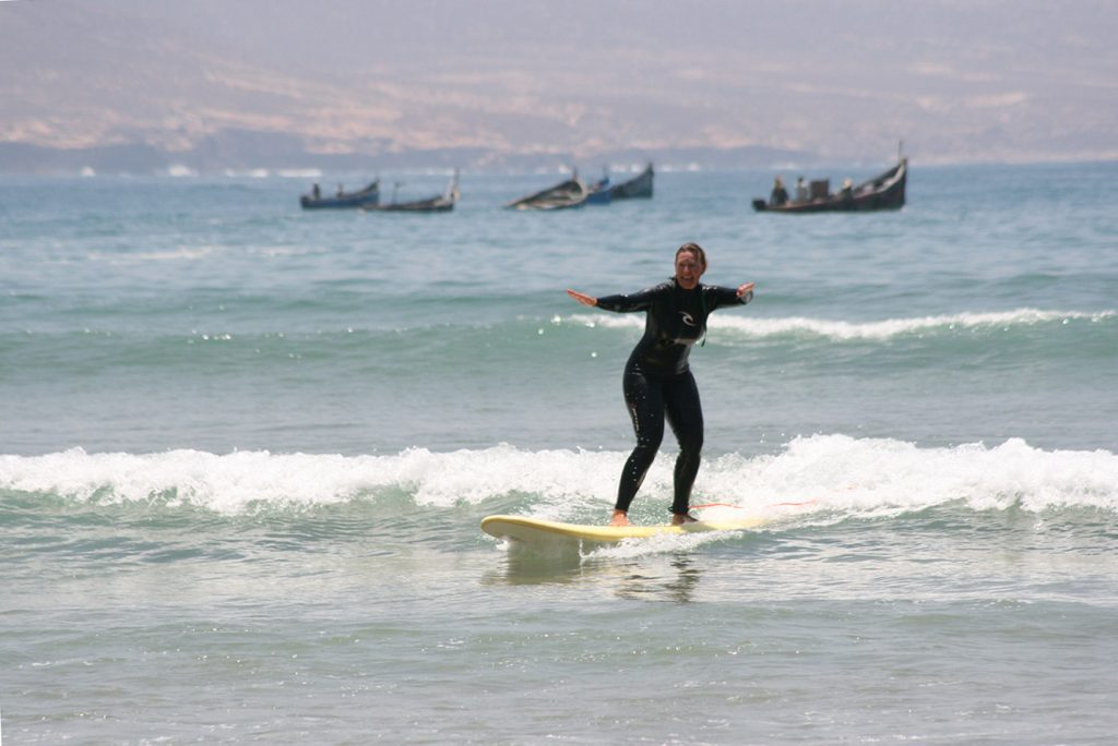 The bay surf spot in Morocco